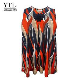 $enCountryForm.capitalKeyWord NZ - Ytl Plus Size Female T-shirt Summer Women Oversized Loose Tunic Sleeveless Print V Neck Flower Tank Top Casual Vest 6xl 7xl H085 j190717