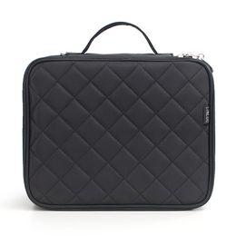 Discount nylon makeup box - Waterproof Nylon Large Capacity Zipper Makeup Bag Cosmetic Travel Carry Box Soft Multi Use Mesh Organizer Double Layer T