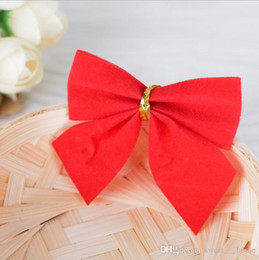 Cloth Red Dress Australia - 2017 New hot Christmas decorations Christmas tree hang decoration Small bowknot red gold and silver 12 dresses free shipping