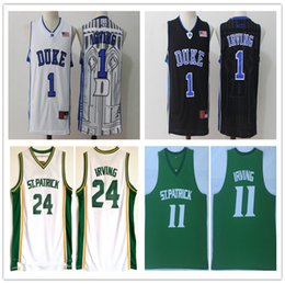 86f0fd24b0b NCAA 2019 duck Mesh Shirt 1  Kyrie Irving Basketball jersey Green Black  White 24  11  Kyrie Irving Wholesale High school Embroidery Jerseys