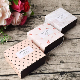 wholesale for cupcake packaging NZ - Drawer Shape Paper Box for Soap Cake Chocolate Gift Packaging Candy Box For Wedding Party Birthday