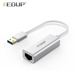 tablet network rj45 2019 - EDUP 10 100 1000Mbps Gigabit USB Ethernet Adapter USB 3.0 LAN Network Card With RJ45 Port Win Mac for Desktop Notebook T