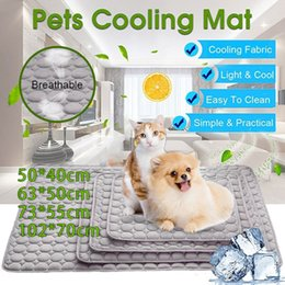 pet heat mats Australia - Cool Pad Cotton Pet Cooling Mat Cushion Pet Mat Durable Breathable Heat Relief Cat Summer Mat Comfort None Toxic Bed Cooler Dog