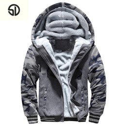 325e1c0d19 White Velvet Hoodie Australia - Bomber Jacket Men Plus Velvet Thick Fleece  Camouflage Hoodie Men Fur