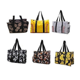 Hand Bags Types Australia - hot Outdoor beach bag sports canvas bag softball baseball handbag women's volleyball hand storage bag sports bags T2D5029