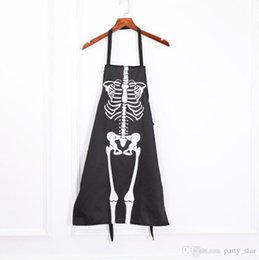 halloween party decorations bar props Australia - Bar Club Halloween Party Waiters Skeleton Frame Aprons Decoration Home Funny Skeleton Apron Props Festive Party Supplies