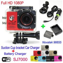 Silver Black Red Australia - SJ7000 Waterproof WiFi Action Camera +Battery Charger+bracket +Car Charger 1080P Full HD Sports Camera Diving Video Helmet Camcorder Car DVR