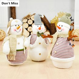 christmas gift candles Australia - Christmas Decorations for Home Snowman Figures Xmas Tree Decor Ornaments Standing Doll Kids Children Gift Toy Navidad Decoracion
