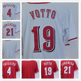 $enCountryForm.capitalKeyWord Australia - 2018 Men's 19 Joey Votto 4 Brandon Phillips 21 Michael Lorenzen Blank Red White Cool Base Baseball Jerseys Hongren Game Wholesale Cheap