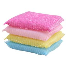 Sponge Blocks Australia - New 1 pc Scrub Wash Clean Block Wipe Pot No Oil Dishcloth Water Uptake Kitchen cloths brushes melamine magic sponge eponge magique