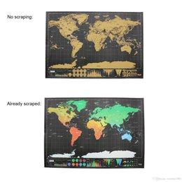 $enCountryForm.capitalKeyWord NZ - 42*30cm Deluxe Erase Black Scratch Map World Wall Sticker Decoration Scratch Poster Mini Foil Layer Coating Travel Edition Journal Home
