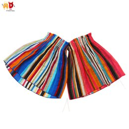 Discount kids stylish clothing - good quality Colorful Striped Girls Beach Dress Stylish Kids Vacation Dresses Children's Tank Outwear Clothing Clot