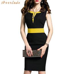 4c6477f1262537 2019 Fashion Office Lady Dress Black Work Dress Clothes Summer Sleeveless  Women Bussiness Style Comfortable Slim Pencil Dresses J190530