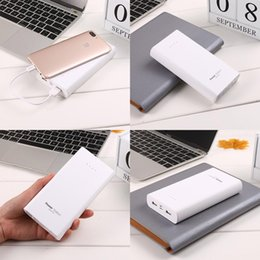 Power Bank 2.1a Australia - 2 Large Lighting Capacity Power Durable USB 2 5V 5V 1A Power Bank 1A Cable Mobile Portable Micro Dual Interface