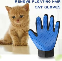 $enCountryForm.capitalKeyWord Australia - Dog Cat Brush Deshedding Glove Gentle Efficient Pet Grooming Gloves Bathing Cleaning Supplies Horse Hairs Combs Dogs Accessories 4 Colors