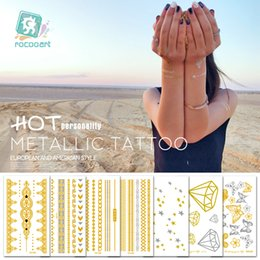 metallic body art Australia - attoo & Body Art Temporary Tattoos 100 Different Small Size Gold and Silver Temporary Tattoos, Metallic Shiny Gold Flash Body Tattoo ...