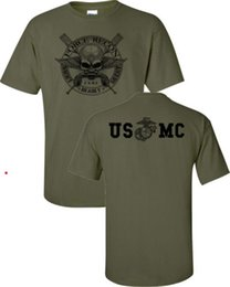 Marine Cotton Australia - 2019 Summer T Shirt Cotton T Shirts Man Clothing Marine Corps Force Recon Usmc Military Front & Back Print Men's Tee Shirt