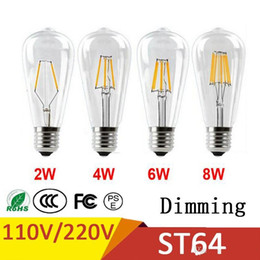 $enCountryForm.capitalKeyWord Australia - Dimmable Retro LED Filament Bulb ST64 E27 2W 4W 6W 8W 110V No Flicker Replace Edison Bulb Smart IC Driver Energy Saving