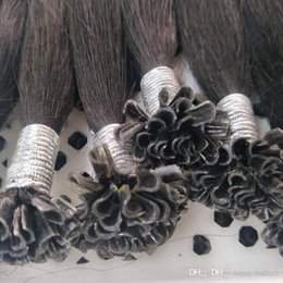 Silk Human Hair Extension Australia - U tip brazilian virgin human hair keratin Nail hair extensions 1gr st & 200st Lot, Silk straight hair, free DHL