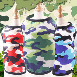 Camo Clothing T Shirts Australia - New Hot Fashion Pet Dog Clothes T-shirt Vest Small Cotton Puppy Costumes Camo PulloverOutfits Small Chihuahua Clothing Costume Pet Supplies