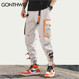 hipster man pants Australia - Gonthwid Multi Pockets Cargo Harem Jogger Pants Men Hip Hop Fashion Casual Track Trousers Streetwear Harajuku Hipster Sweatpants Q190514