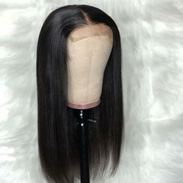 Virgin hair for cheap online shopping - Human Hair Lace Front Wigs Bob Virgin Malaysian Straight Glueless Cheap Long Bob Cut Lacefront Wig For African American