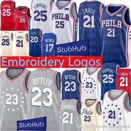ee859b831 Philadelphia 23 Jimmy 76ers Butler Jersey New joel 21 embiid Ben 25 Simmons  20 Markelle 17 JJ Redick Basketball Jerseys Mens