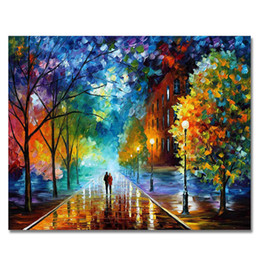 $enCountryForm.capitalKeyWord NZ - icture numbers WEEN Romantic Walking Picture By Numbers DIY Handpainted Lover In The Rain Oil Painting Landscape Home Decor Sunset Boat 4...