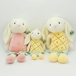 $enCountryForm.capitalKeyWord Australia - Confort Long Ear Pink Yellow Kawaii Fruit Rabbit Stuffed Animals Toys Rabbit Plush Doll Punny 30CM Doll Toy Best Gifts For Girls Whoselase