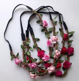 Bohemian Headbands Wholesale Australia - Wholesale - Bride Bohemian Flower Headband Festival Wedding Floral Garland Hair Band Headwear Hair Accessories for Women