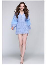 40cd9bf78a White Lace Dress Blue Lining Australia - A Line 2019 Runway Designer New  Arrival Womens Dress