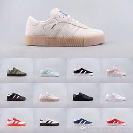 $enCountryForm.capitalKeyWord Australia - New Colour Samba rose Gazelle Classic Shoes Men Women high top quality Black white Red Lightweight Student Casual Shoes 36-45 WIth Box