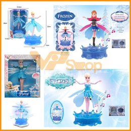 Toy airplane flies online shopping - Flying Princess Toy Frozen Beautiful and Hearted Anna Flying Aircraft Helicopter Toys Ice Snow Drone RC Airplane With Music Lighting Box
