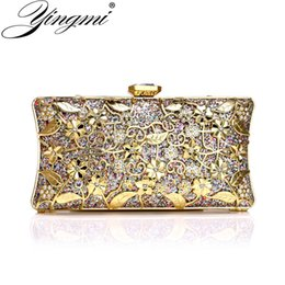 handbags for dinner Australia - YINGMI Luxury hollow out style fashion clutch diamonds sequined chain shoulder evening bags for party dinner handbags