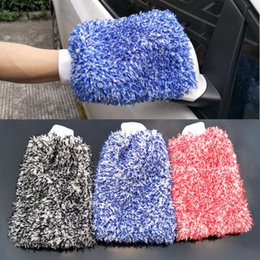 $enCountryForm.capitalKeyWord Australia - Soft Absorbancy Glove High Density Car Cleaning Ultra Soft Easy To Dry Auto Detailing Microfiber Madness Wash Mitt Cloth Towel
