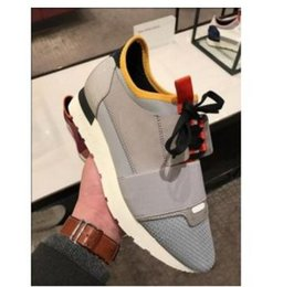 Cheap original branded shoes online shopping - Famous Brand High Quality Race Runner Shoes Casual Man Woman Fashion Blue Red Bottom Cheap Sneaker Mesh Trainer Shoes Original Box