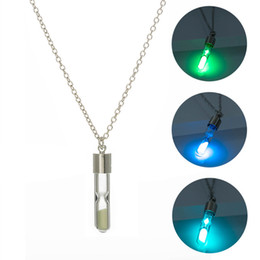 easter tubes 2020 - Luminous Glow In The Dark Luminous Glass Tube Necklace Pendant Necklace For Women Jewelry Silver Chain Bohemia Necklace