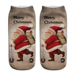 $enCountryForm.capitalKeyWord UK - 1Pair 3D Print Christmas Socks Womens Cotton Funny Cute Casual Socks Unisex Low Cut Ankle For Women chaussette femme #905