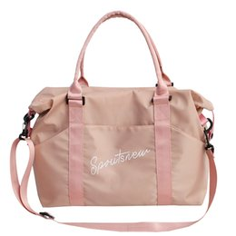 Hot Pink Hand Bags NZ - Fashion Men Travel Sac a Main Large Capacity Ladies Hand Luggage Hot Black Pink Weekend Bags Travel Duffle Bags for Women 2019