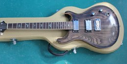 reed guitars Australia - Custom Reed Smith Brown Grey Ash Top Electric Guitar Rosewood Fingerboard Abalone Birds Inlay, Natural Wood Binding, Double Locking Tremolo