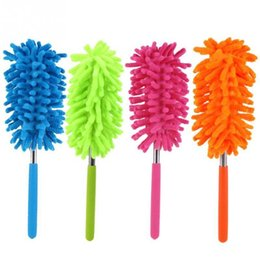 Fans book online shopping - 4 Color Scalable Microfiber Telescopic Dusters Chenille Cleaning Dust Desktop Household Dusting Brush Cars Cleaning Tool LX5918