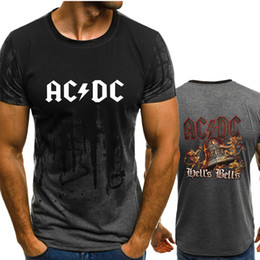 e0c2ede0 New fashion O-neck summer ACDC Band Print men's casual fashion trend  short-sleeved T-shirt hip-hop T-shirt shirt