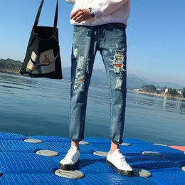 8850a353e 2018 Autumn New Biker Jeans Men Washed Slim Fashion Retro Personality Tear  Hole Casual Trend Street Hip Hop Trousers