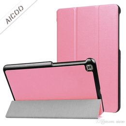 Plastic Stand For Tablets NZ - PU Leather Flip Folding Folio Ultra Slim Cover Protective Tablet Stand Case for LG Gpad Tablet 4 3 F X X2 8.0 10.1 plus Opp Bag