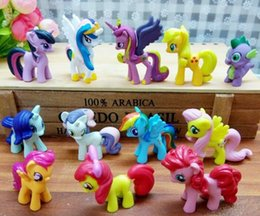 Jack Gifts Australia - 12pcs set Mini Pony Toys Mini Pony PVC Action Figures Set Rainbow Dash Twilight Sparkle Apple Jack Spike kids Christmas gift