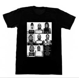 Wholesale black shirt loose skull online – design Hip Hop Mugshots Tupac Suge Shirt T Shirt Fashion New Summer Classical Solid Color Short Sleeve Loose Skull T