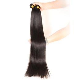 smooth soft hair UK - BeautyStarQuality Soft Smooth 32 34 36 38 Inch Straight Human Hair long Straight Wave Indian Malaysian Hair Bundles