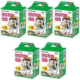 Vente en gros 20 feuille de feuille Fujifilm Instax Mini 8 film 20 feuilles pour caméra Instaxe Mini 7s 25 50s 90 Papier Film de 3 pouces Large