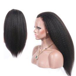 Toptan satış Tam Dantel İnsan Saç Peruk Seksi Kıvırcık peruk kinky düz Tutkalsız Brezilyalı Bakire Saç Öncesi Koparıp Doğal Saç Çizgisi Ile Bebek saç