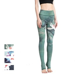 tight sexy yoga pants 2019 - Women Sexy Yoga Pants Printed Dry Fit Sport Pants Elastic Fitness Gym Pants Workout Running Tight Sport Leggings Female